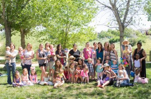 Mountain House Mothers' Club 2015 Easter Egg Hunt group photo